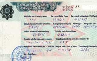 Виза в азербайджан для россиян в 2020 году